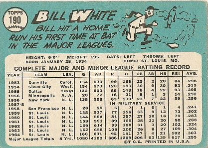 Bill White (back) by you.