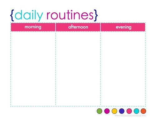 {daily routines} free printable planner
