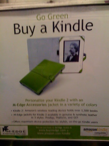 M-Edge for Kindle ad on NYC subway