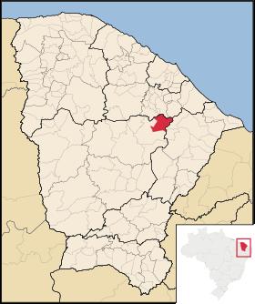 Localização de Ibaretama