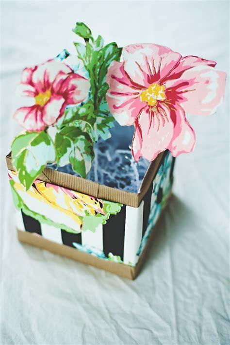 Paper flower pop up box ? A Subtle Revelry