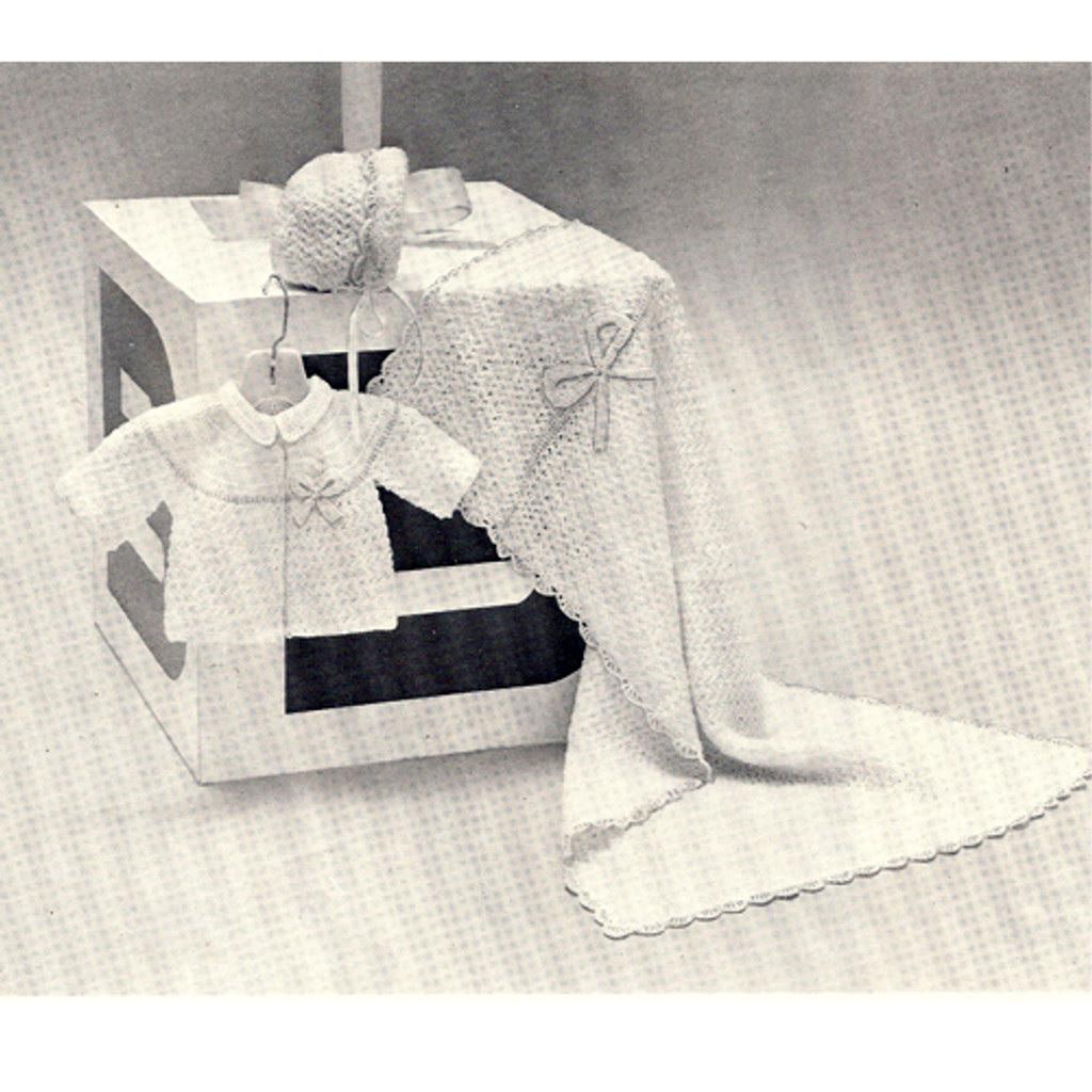 Vintage Crocheted Baby Pattern Set