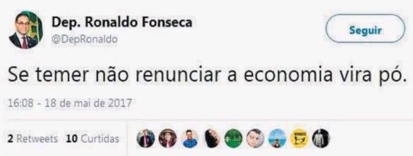 """Novo ministro já pediu renúncia de Temer: """"Se não renunciar, economia vira pó"""""""