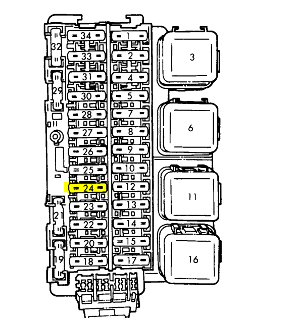 1995 Nissan Pickup Fuse Diagram