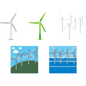 風力発電機 Gahag 著作権フリー写真イラスト素材集