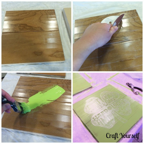 Rustic Lucky Friend Board Diy Tutorial To Create Your Own