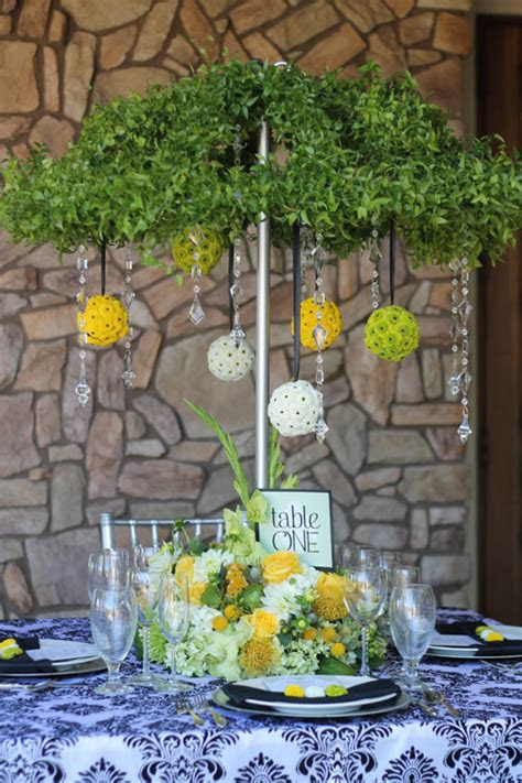 april showers centerpiece wedding party rentals san