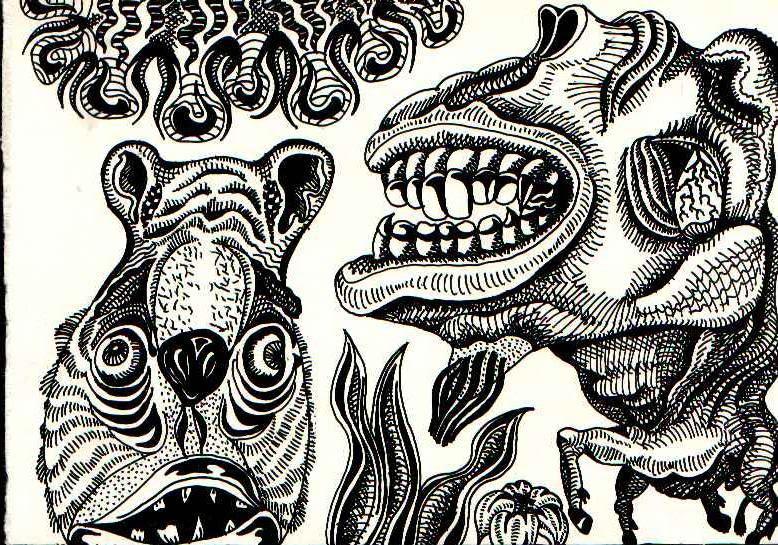 Детские сказки и ночные кошмары. Графический рисунок.