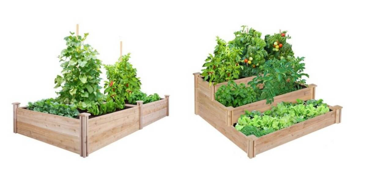 Home Depot: Up To 62% OFF Raised Garden Beds 3-Tiered Cedar Bed ...