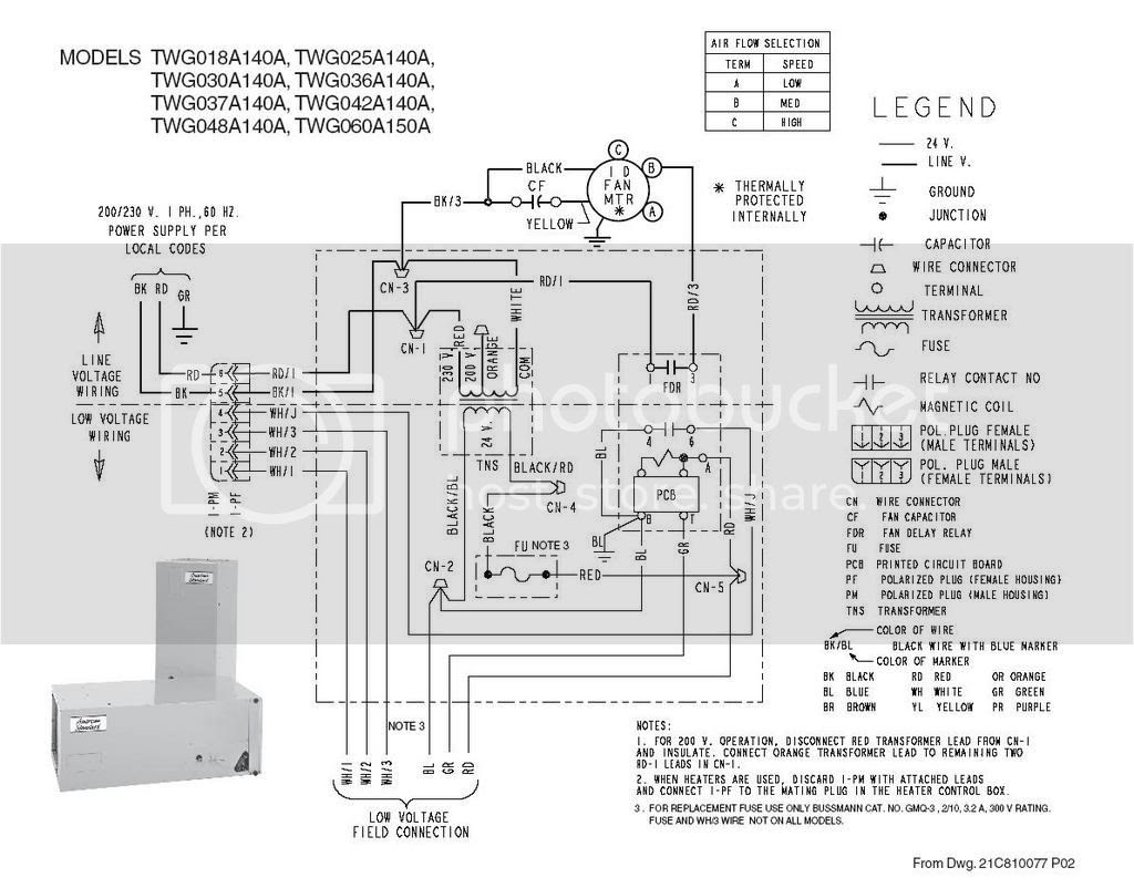 Trane Xe 1100 Wiring Diagram Model