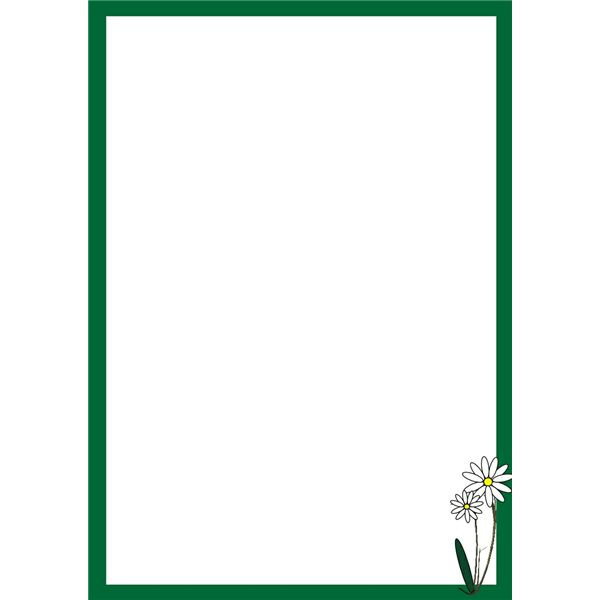 Free Simple Flower Border Designs For A4 Paper Download Free Clip
