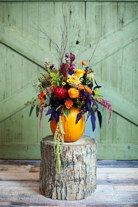 Pumpkin Inspired Fall Wedding   Thanksgiving Centerpieces