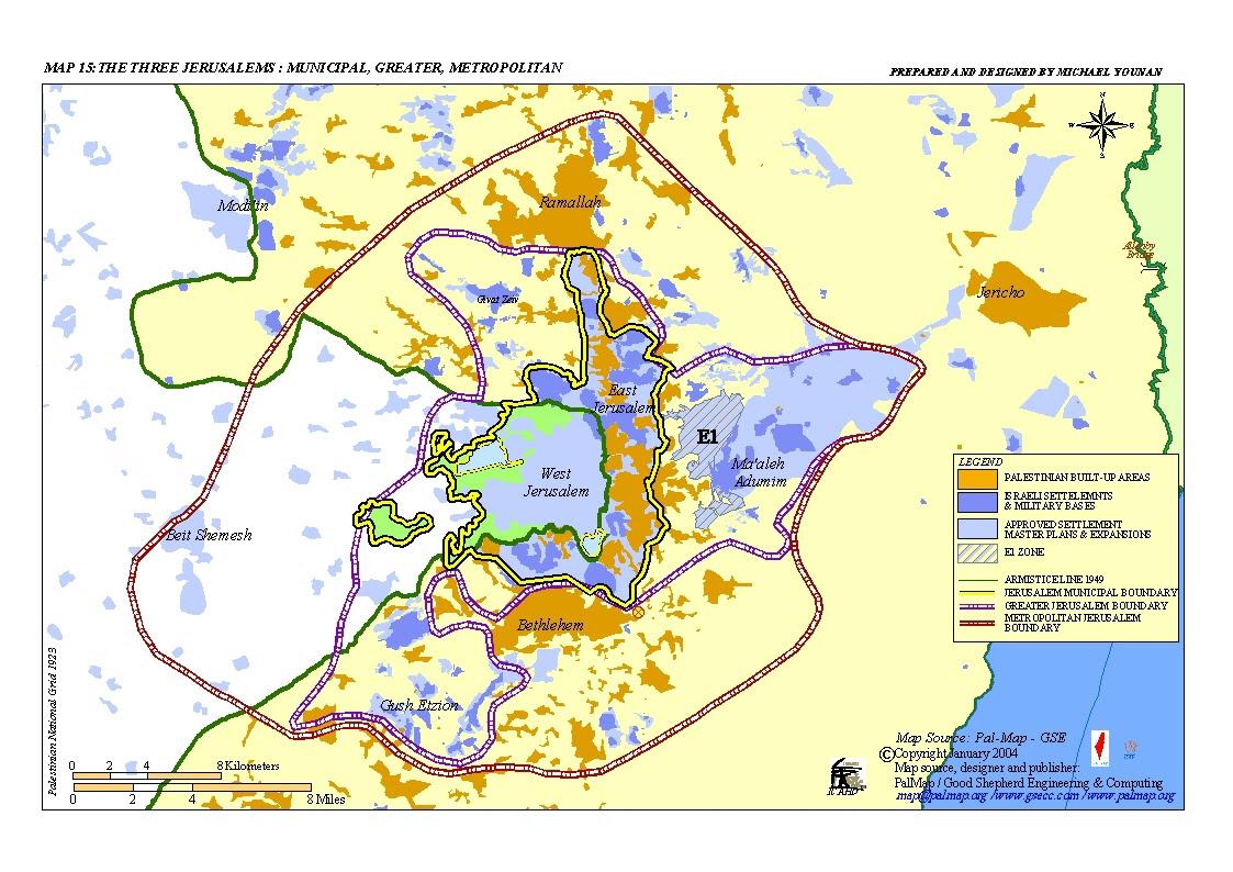 Risultati immagini per jerusalem map