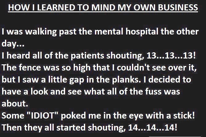Mind My Own Business Pictures Photos And Images For Facebook