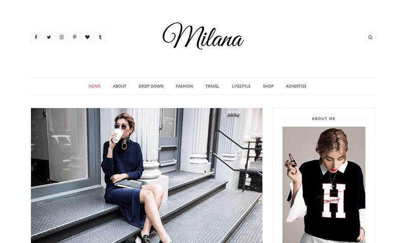 Demonstração Modelo Milana para Blogger Responsivo 2018