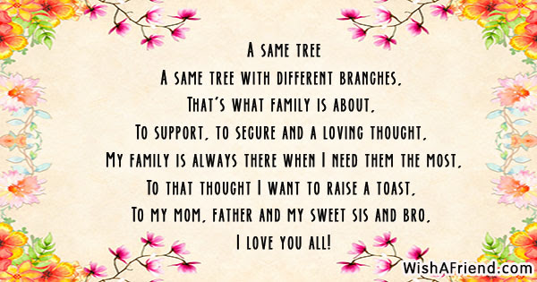 A Same Tree Poem About Family