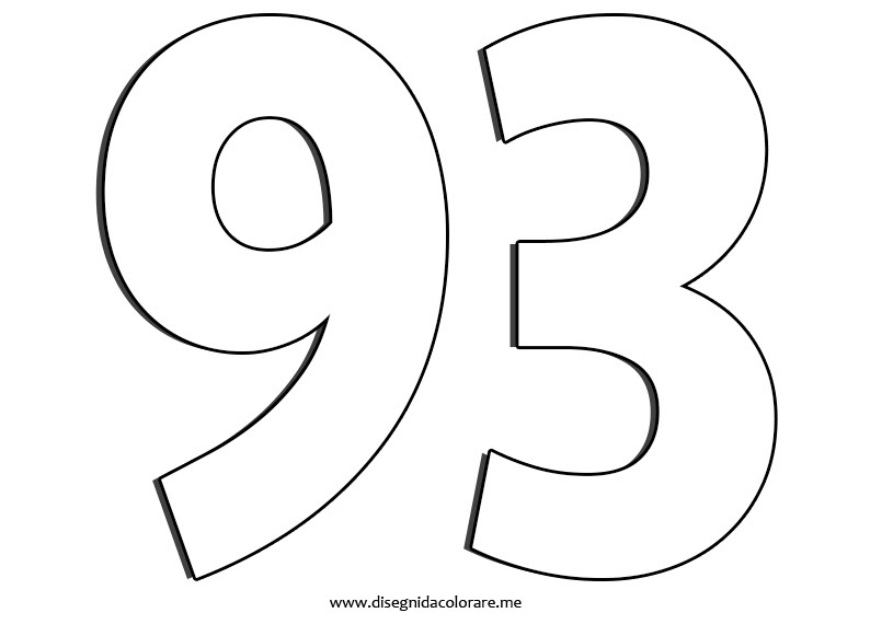 Numero 93 Disegni Da Colorare