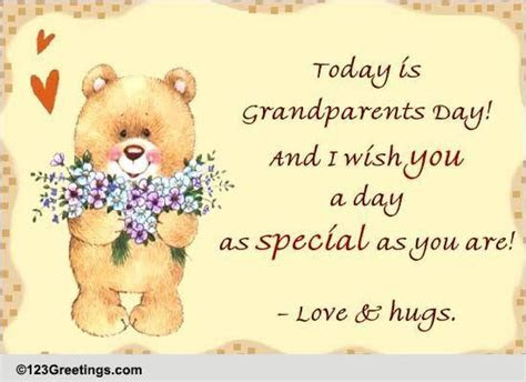 Love And Hug For Grandparents  Free Grandparents Day