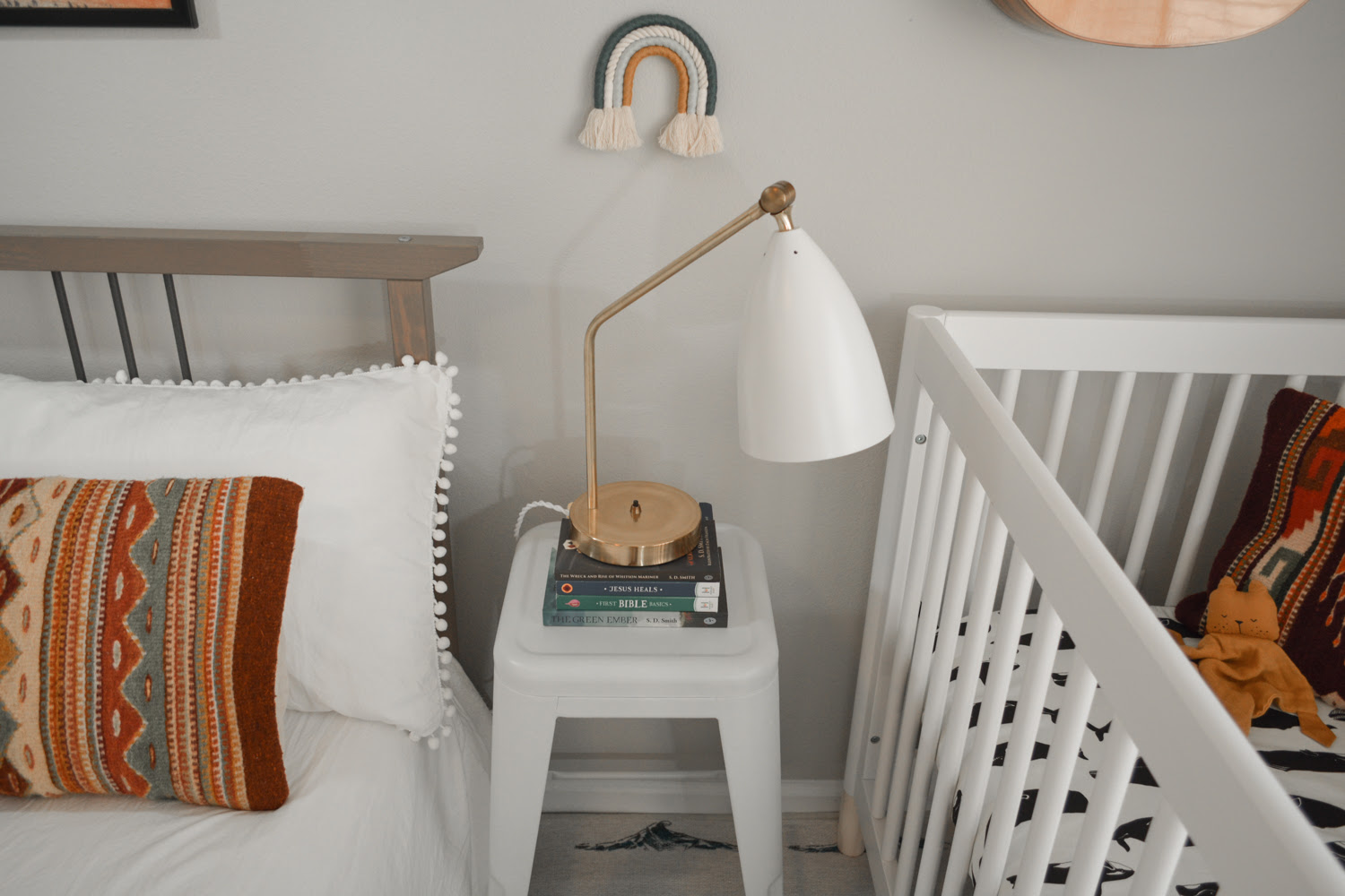Minimal Nursery Corner in Master Bedroom