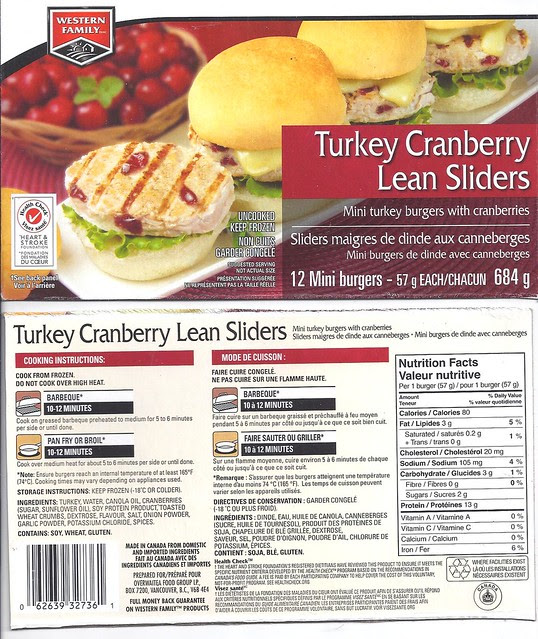 Western Family Turkey Cranberry Lean Sliders