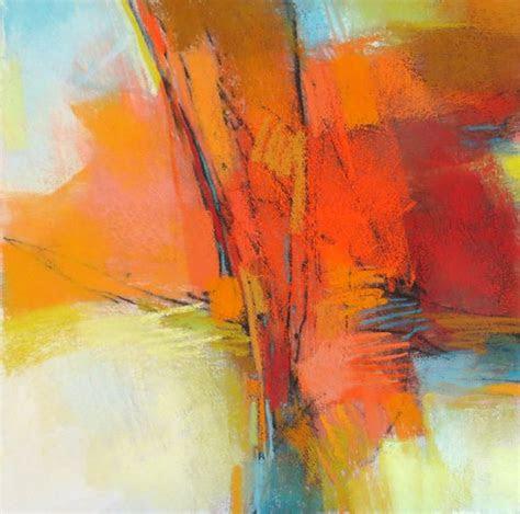 orange abstraction  pastel  debora lstewart