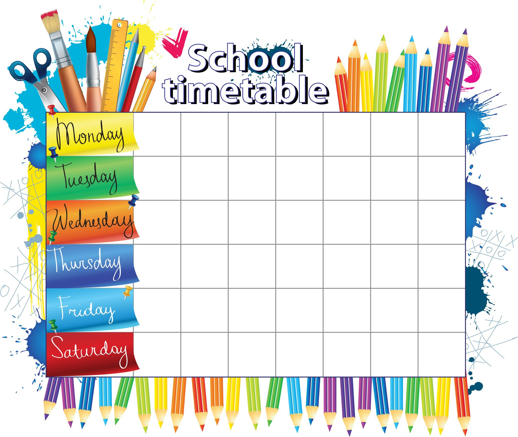 Daily Schedule School | Daily Planner