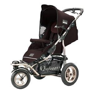 Quinny 65803440 - Freestyle 3XL Comfort, Jogger inklusive geräumigen Einkaufskorb, Spielbügel, Klingel und Luftpumpe, Earth