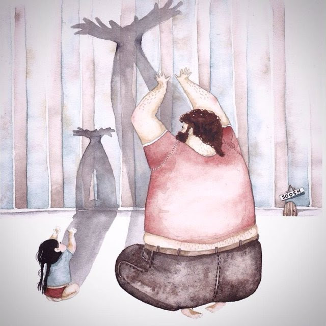 14 Ilustraciones Que Representan El Amor Especial Entre Un Padre Y