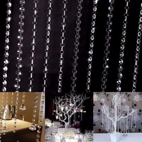 Garland Strand Crystal Bead Curtain Wedding DIY Tree