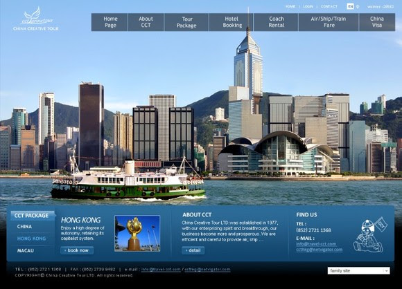 Tourism Website Design : China Creative Tour