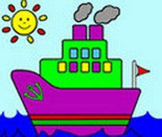 gemi boyama oyunu  gemi boyama boyama