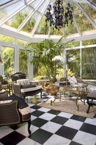 This is a beautiful sun room that I imagine with all of our big plants living happily ever after-Mother's favorite