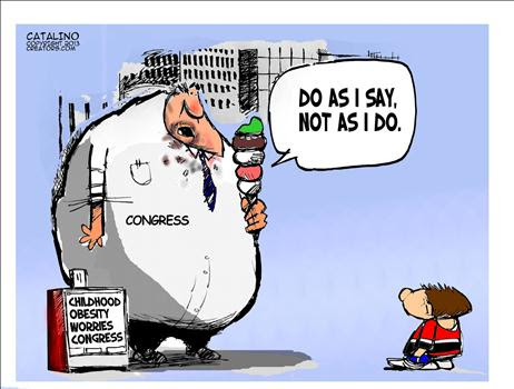 Cartoon Obese Government