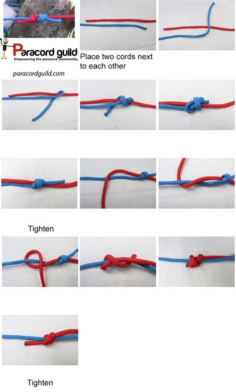 how to tie a fishermans knot   Ummm    Pinterest   Knots