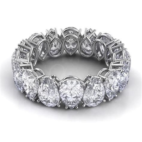 Unique pear shaped eternity band   Jewelry   Pinterest