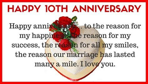 Happy 10th Wedding Anniversary Wishes to My Wife