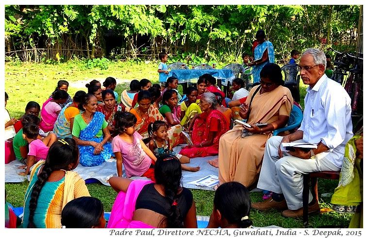 Padre Paul, NECHA, Assam India - Images by Sunil Deepak