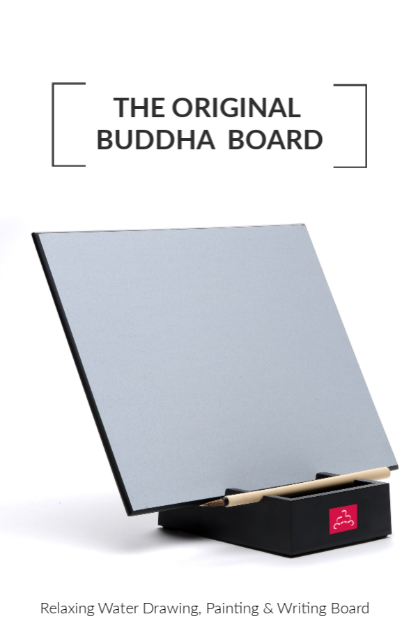 The Original Buddha Board: Relaxing Water Drawing, Painting & Writing Board with Bamboo Brush & Stand #BuddhaBoard