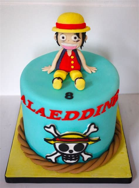 Luffy One Piece Cake   Gateaux   Pinterest   Cakes, One