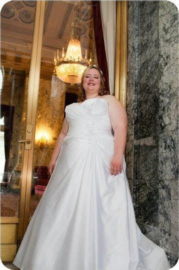 Alfred Angelo White Satin Style 2228 Modern Wedding Dress