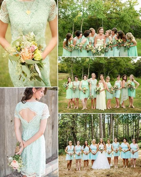 25  best ideas about Mint green bridesmaids on Pinterest