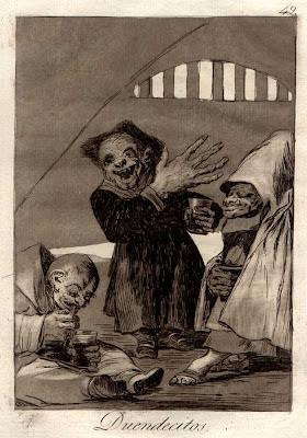 Hobgoblins. (Caprichos, no. 49 Duendecitos.)