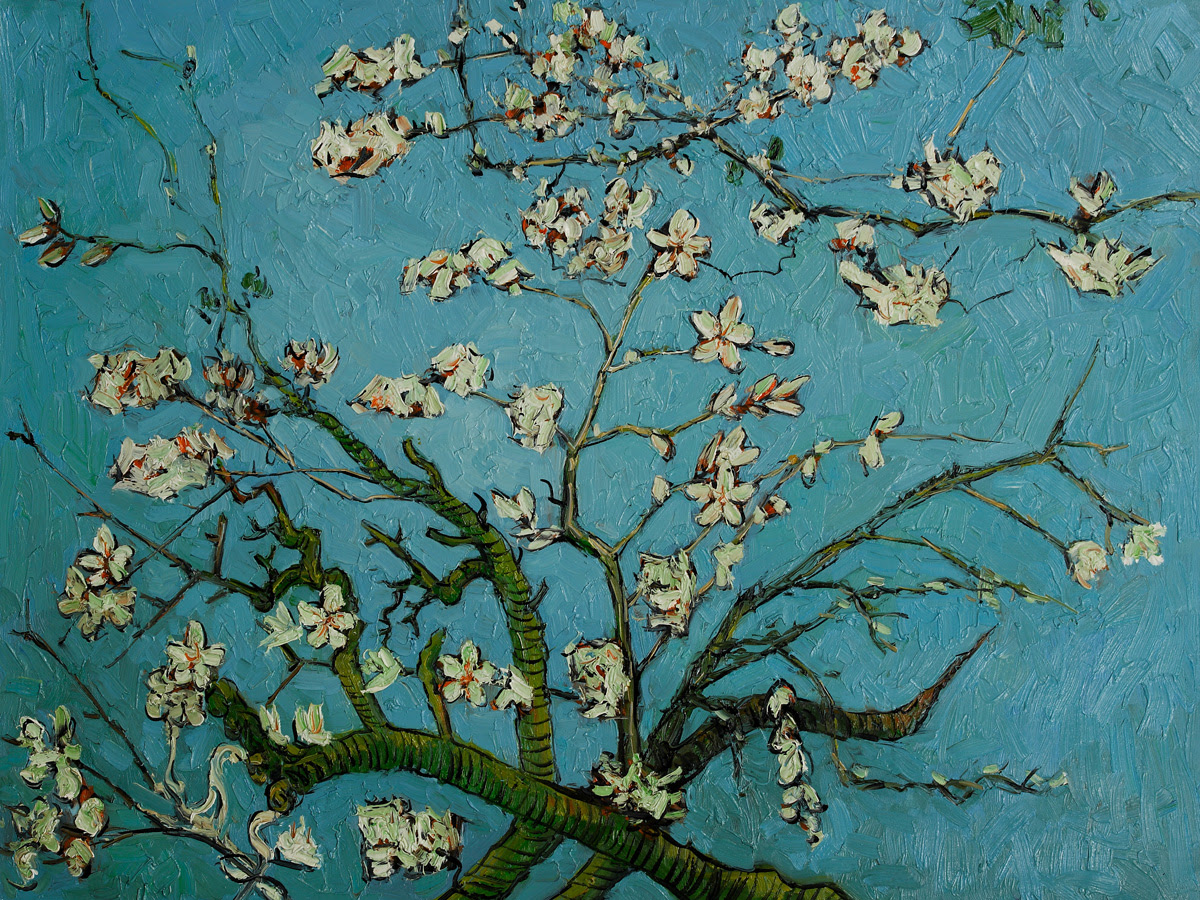 Vincent Van Gogh Almond Blossom Painting