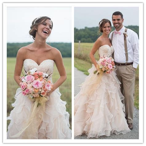 Aliexpress.com : Buy Blush Pink Country Wedding Dresses