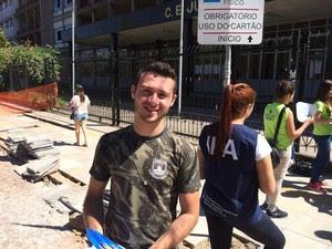 João Matheus Passos, 18 anos, achou tranquilo o tema da redação do vestibular da UFRGS (Foto: Estêvão Pires/G1)