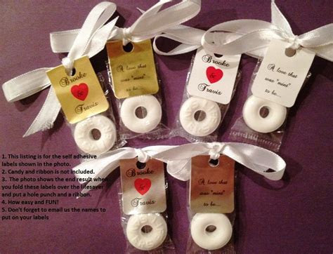30 Personalized Lifesaver Favor Labels for Wedding or