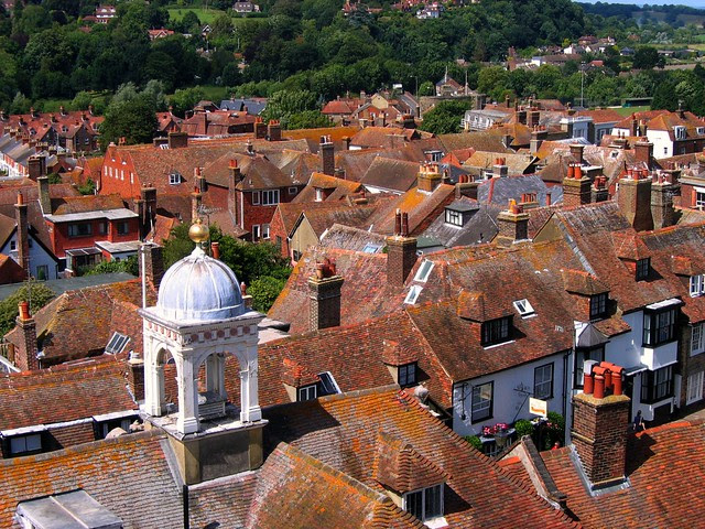 Views from St. Mary's Church Tower, Rye, East Sussex
