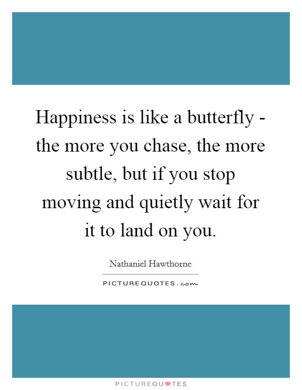 Happiness Is Like A Butterfly The More You Chase The More