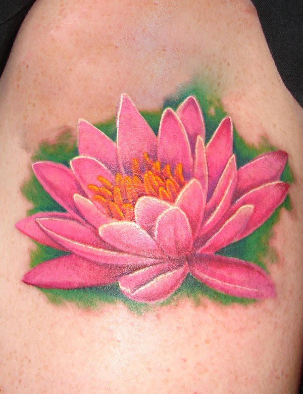 Water Lily Tattoo On Upper Back Of 2 2019 Tattoos Ideas