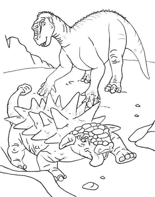 Ausmalbilder Dinosaurier 8 Ausmalbilder Tiere
